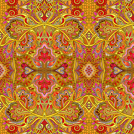 Psychedelic Summer of Sunshine and Flowers and Love fabric by edsel2084 on Spoonflower - custom fabric