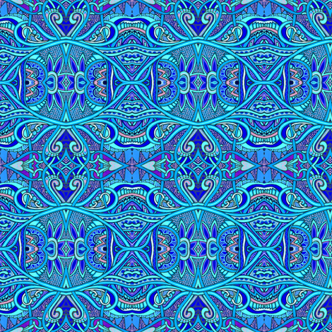 When Blue Takes Drugs fabric by edsel2084 on Spoonflower - custom fabric