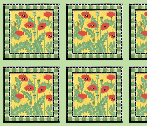 Red Poppies fabric by alyson_chase on Spoonflower - custom fabric