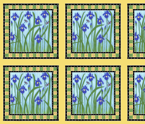 Purple Irises fabric by alyson_chase on Spoonflower - custom fabric