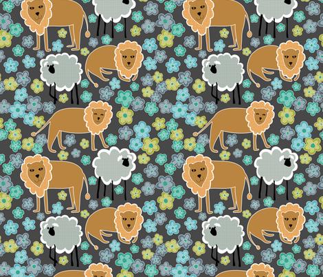 lejonlamm_gray_jpg-01 fabric by vo_aka_virginiao on Spoonflower - custom fabric