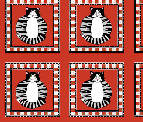 Striped Cat fabric by alyson_chase on Spoonflower - custom fabric