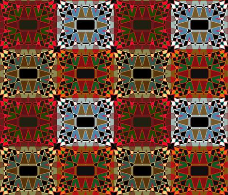 AfricanMix-VividFl-Sky-Heat-4pk fabric by grannynan on Spoonflower - custom fabric