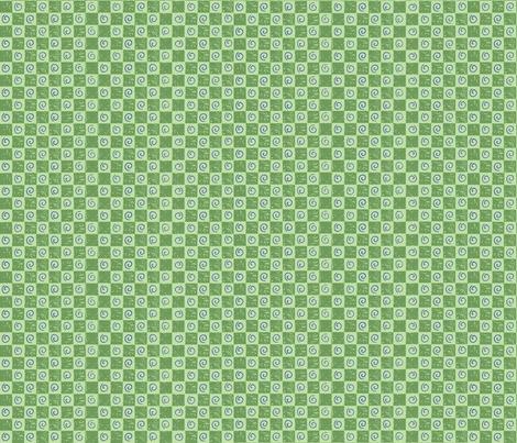 checkerboardandswirlsgreenpurple fabric by alyson_chase on Spoonflower - custom fabric