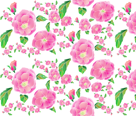 Floribunda fabric by aftermyart on Spoonflower - custom fabric