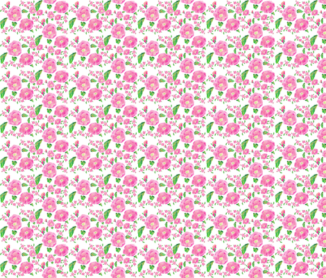 Foribunda Ditsy fabric by aftermyart on Spoonflower - custom fabric