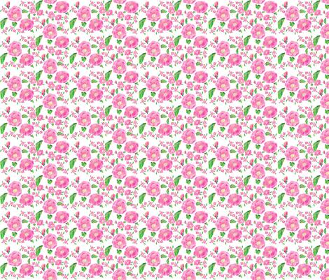 Foribunda Ditsy fabric by aftermyart on Spoonflower - custom fabric