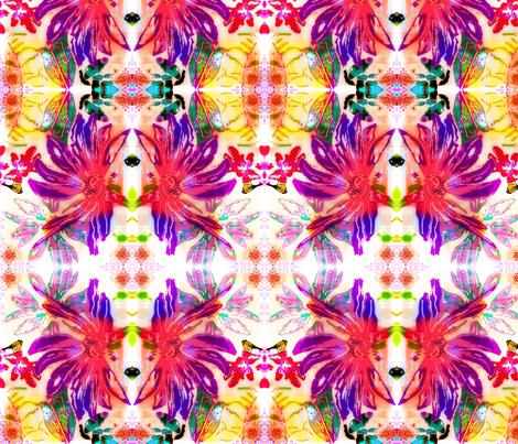 Finch on Flowers fabric by bettieblue_designs on Spoonflower - custom fabric