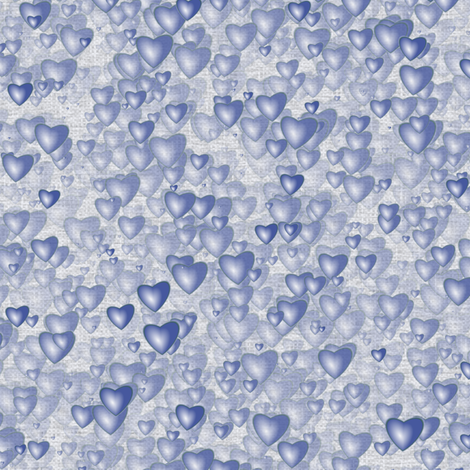 Sea Of Hearts - Full - Blue fabric by bonnie_phantasm on Spoonflower - custom fabric