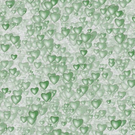 Sea Of Hearts - Full - Green fabric by bonnie_phantasm on Spoonflower - custom fabric