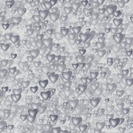Sea Of Hearts - Full - Grey fabric by bonnie_phantasm on Spoonflower - custom fabric