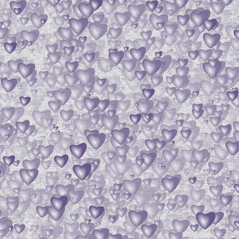 Sea Of Hearts - Full - Lavender fabric by bonnie_phantasm on Spoonflower - custom fabric