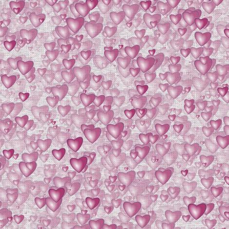 Sea Of Hearts - Full - Pink fabric by bonnie_phantasm on Spoonflower - custom fabric