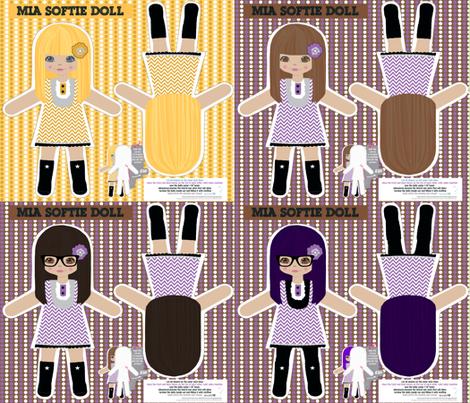 Mia softie doll fabric by katarina on Spoonflower - custom fabric