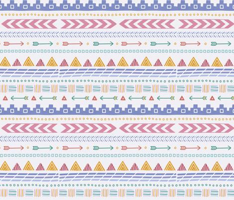 Aztec Pattern fabric by joannehawker on Spoonflower - custom fabric