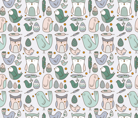 Simple Birds fabric by joannehawker on Spoonflower - custom fabric