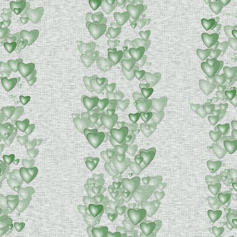 Sea Of Hearts - Stripes - Green fabric by bonnie_phantasm on Spoonflower - custom fabric