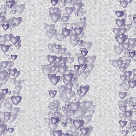 Sea Of Hearts - Stripes - Lavender fabric by bonnie_phantasm on Spoonflower - custom fabric
