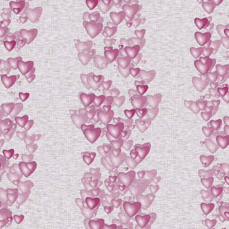 Sea Of Hearts - Stripes - Pink fabric by bonnie_phantasm on Spoonflower - custom fabric