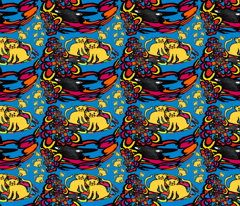 """So . . . where are their mothers?!?"" fabric by anniedeb on Spoonflower - custom fabric"