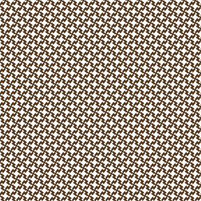 Brown & White Houndstooth