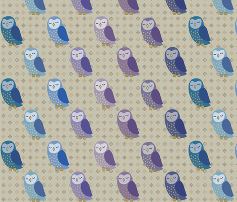 I ♥ owls fabric by vichy on Spoonflower - custom fabric