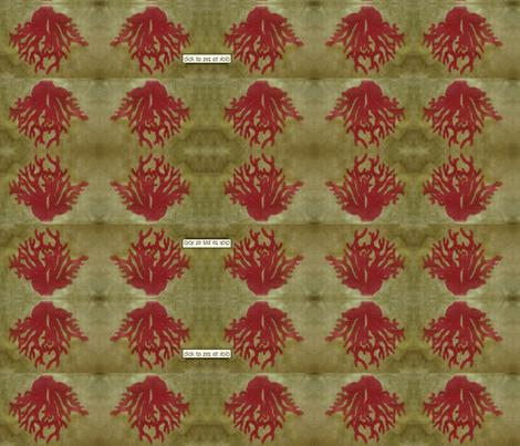 jane_coral_redgreen-ed fabric by fiberjane on Spoonflower - custom fabric