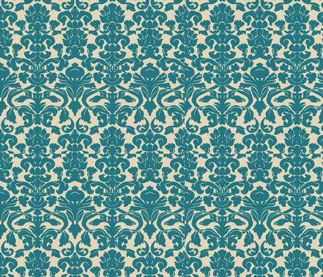 Colonial_Blue_Damask fabric by nola_original on Spoonflower - custom fabric