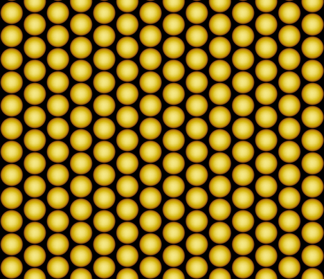 Yellow Orbs fabric by whimzwhirled on Spoonflower - custom fabric