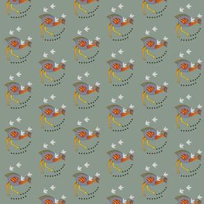 Emu on the plains - tiny. 708