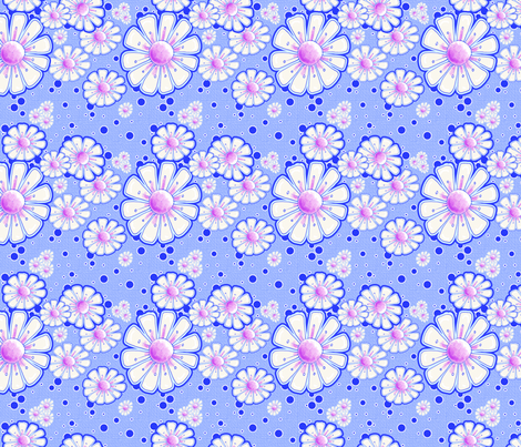 Bring On The Sunshine in Soft Pink and Blue fabric by miraculousmosquito on Spoonflower - custom fabric