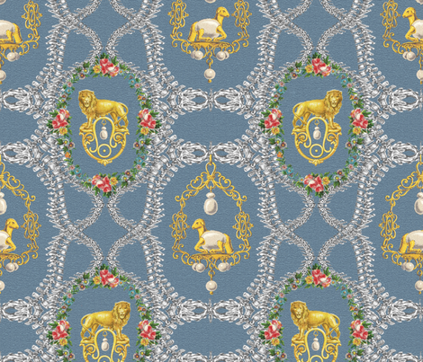 Lamb_lion fabric by ariane_weltevreede on Spoonflower - custom fabric