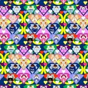 Hawk Family With Hearts