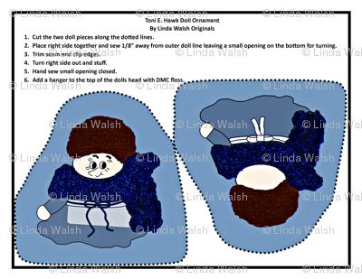 Toni E. Hawk Cut and Sew Doll Ornament
