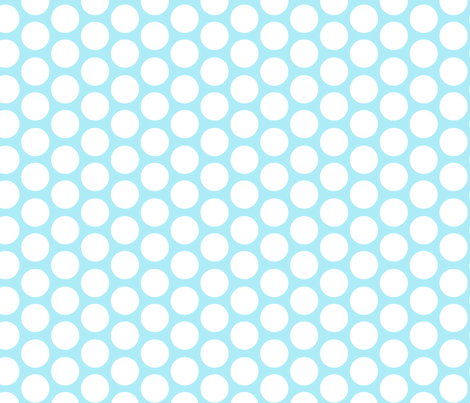 cool blue modern circles fabric by juneblossom on Spoonflower - custom fabric