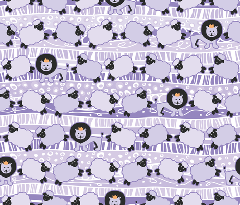 Countin' Sheep fabric by robyriker on Spoonflower - custom fabric