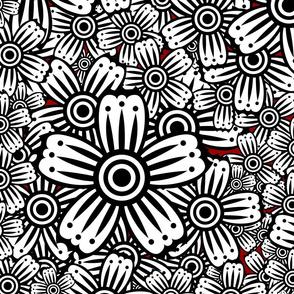Hypnotic Floral Large