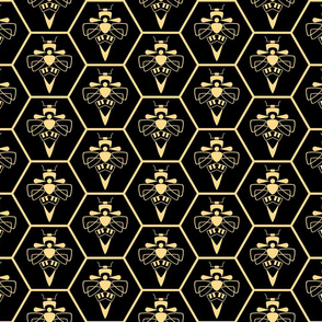 Abstract Bees and Honeycomb Large
