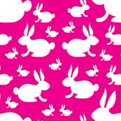 Bunnies on Pink Background