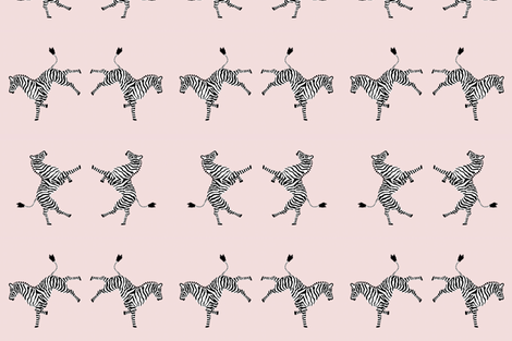 zebra_high 5 pale pink fabric by danikaherrick on Spoonflower - custom fabric