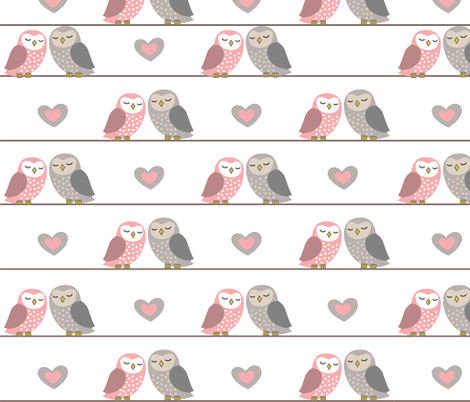 owls_in_love_2 fabric by vichy on Spoonflower - custom fabric