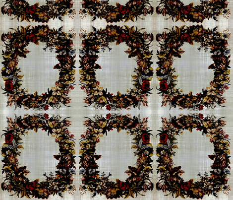 Antique floral fabric by nascustomlife on Spoonflower - custom fabric
