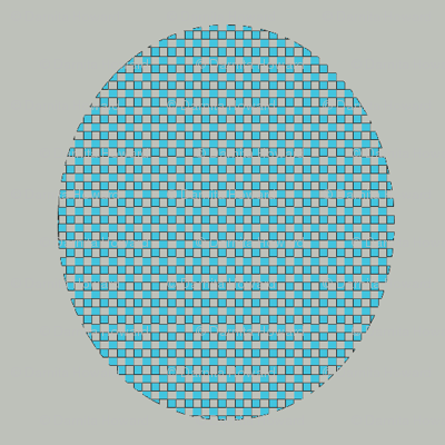 Gray and Turquoise Checkerboard
