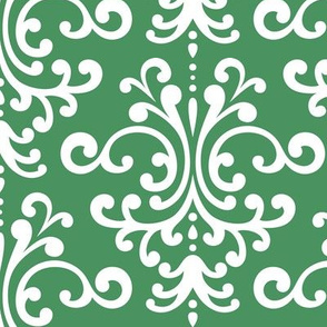 damask lg kelly green