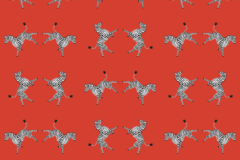 zebra_hi5_red fabric by danikaherrick on Spoonflower - custom fabric
