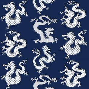 Paper Dragons- navy blues