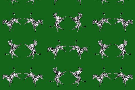 zebra_hi5_lt_green fabric by danikaherrick on Spoonflower - custom fabric
