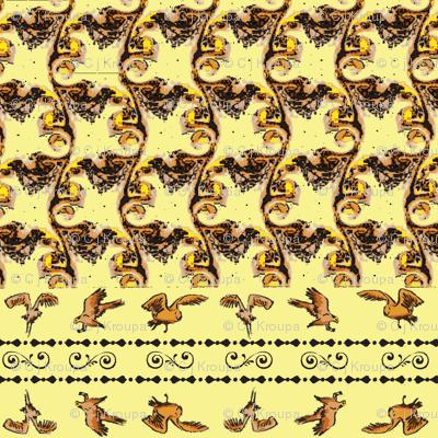 Swirly Birds (Yellow)