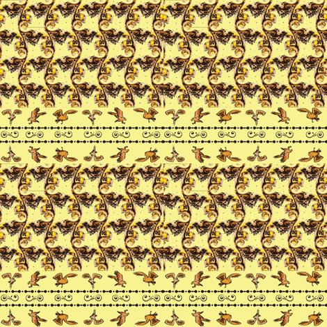 Swirly Birds (Yellow) fabric by ravynscache on Spoonflower - custom fabric