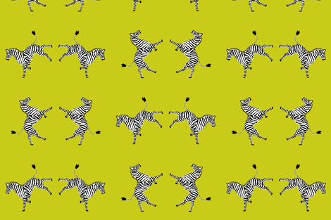 zebra_hi5_acid fabric by danikaherrick on Spoonflower - custom fabric
